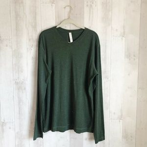 [Lululemon] Green 5 Year Basic Long Sleeve V Neck